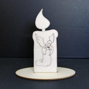 Lesena sveča angel