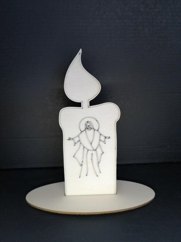 Lesena sveča svetnik